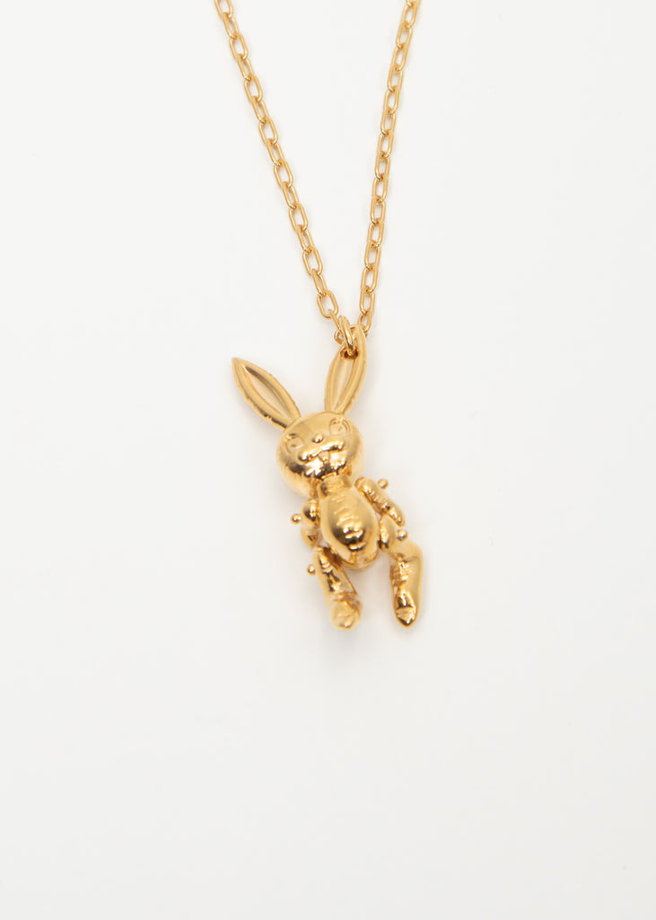Gold Inflatable Bunny Necklaces