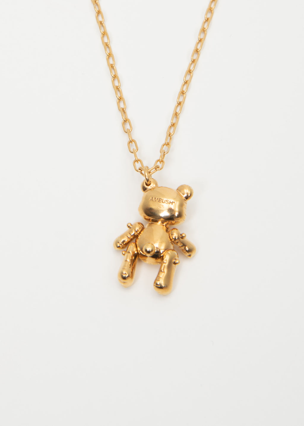 Gold Inflatable Teddy Bear Necklaces