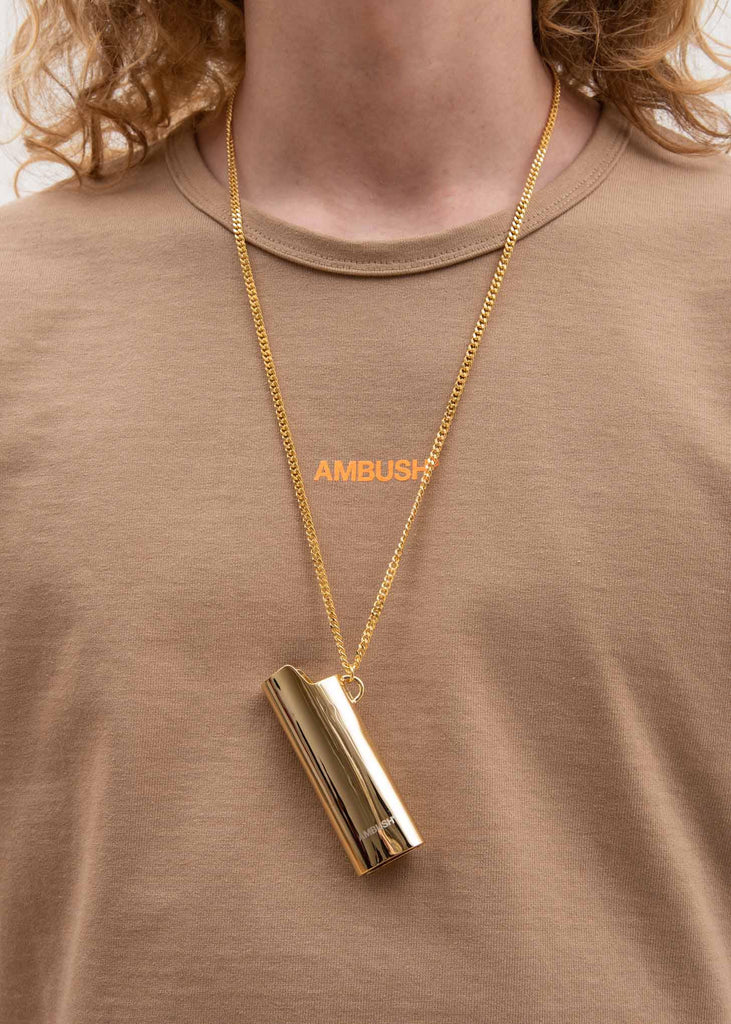 Gold Lighter Case Necklace