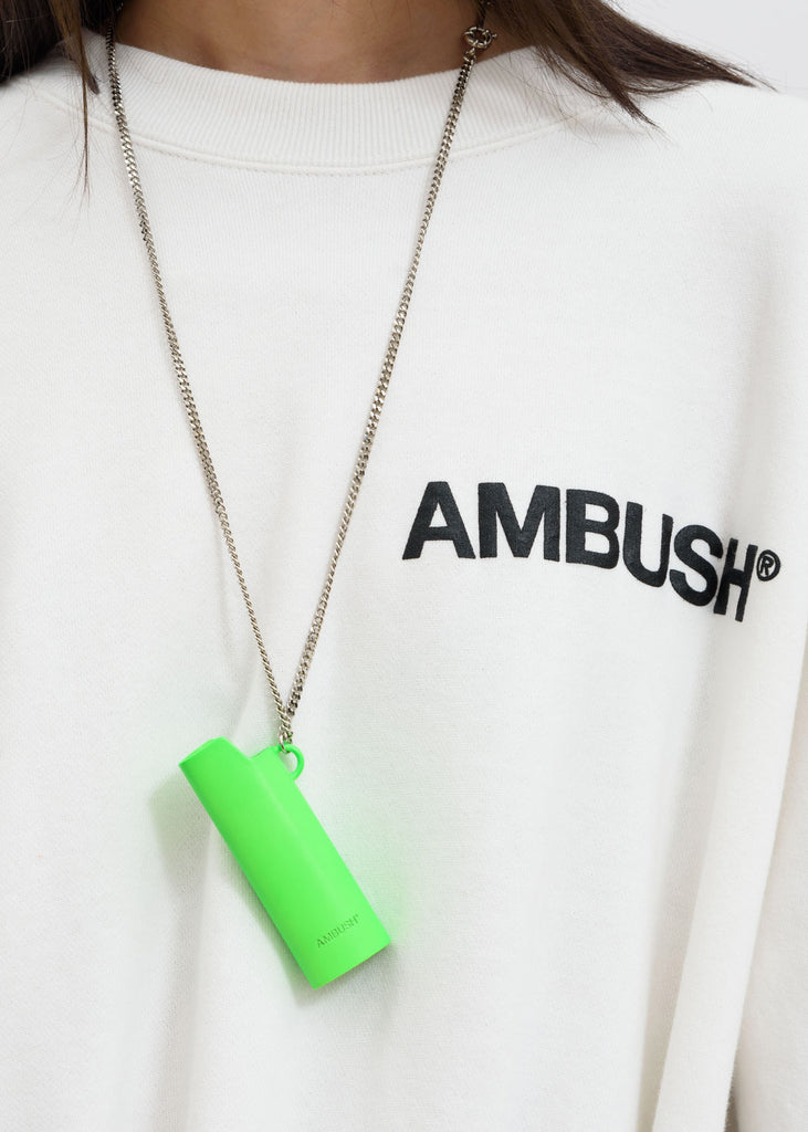 Green Lighter Case Necklace 2