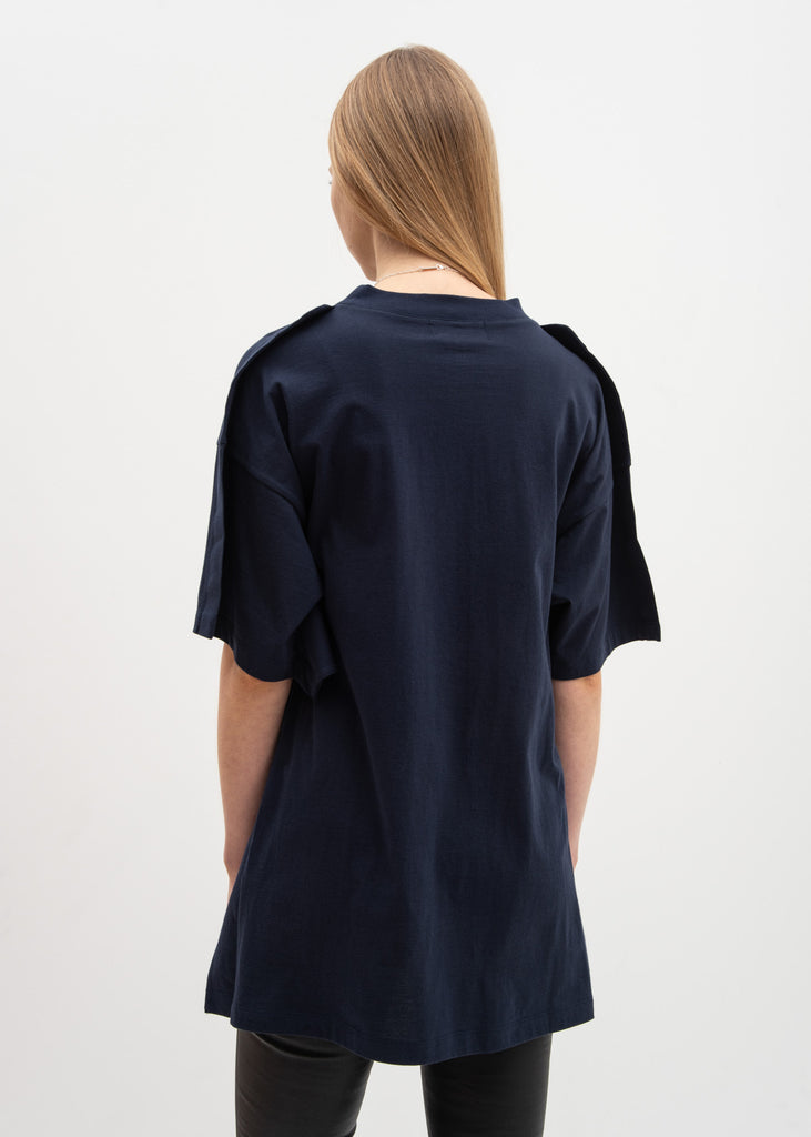 Ambush, Navy Oversized Fin T-Shirt, 017 Shop