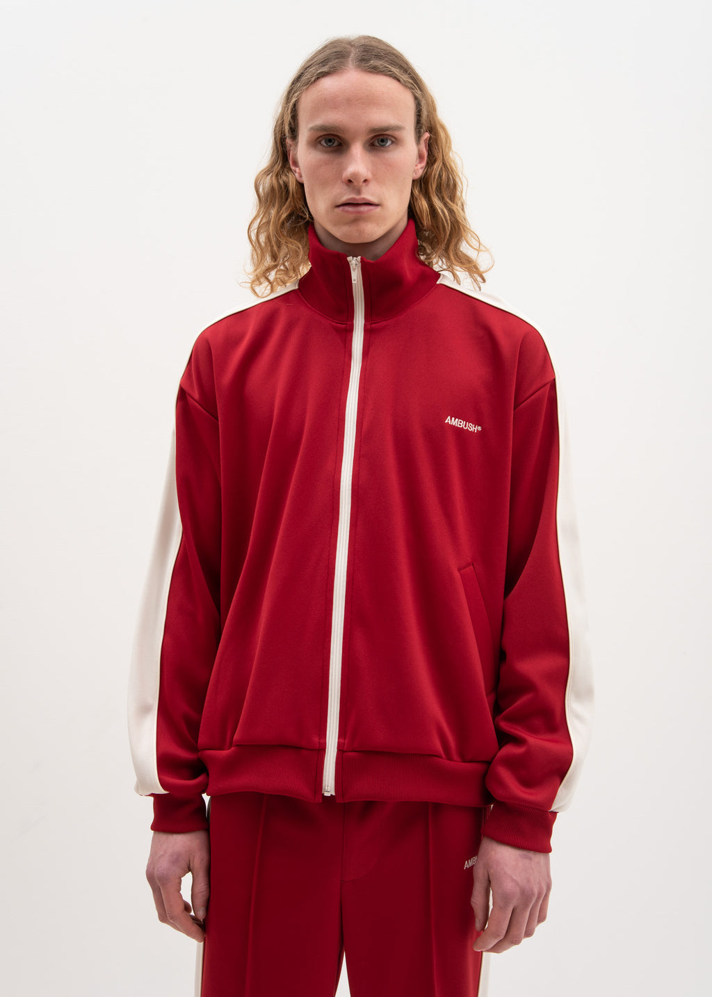 Red Waves Track Top