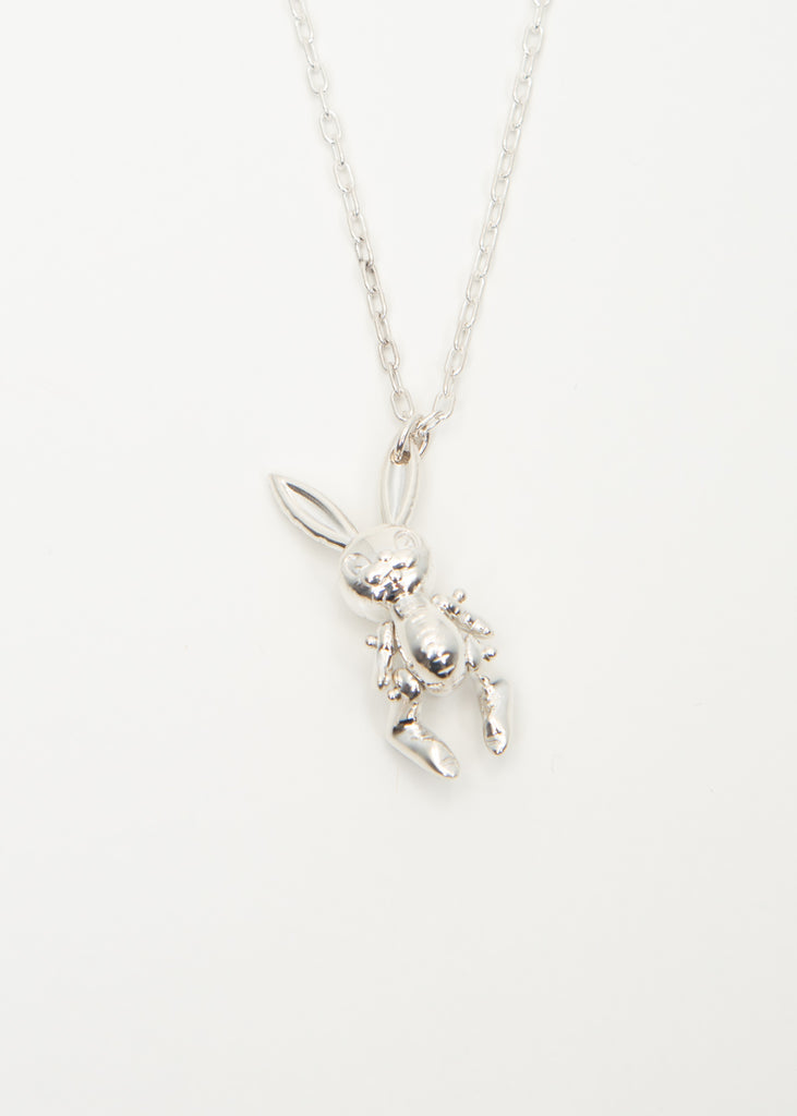 Silver Inflatable Bunny Necklaces