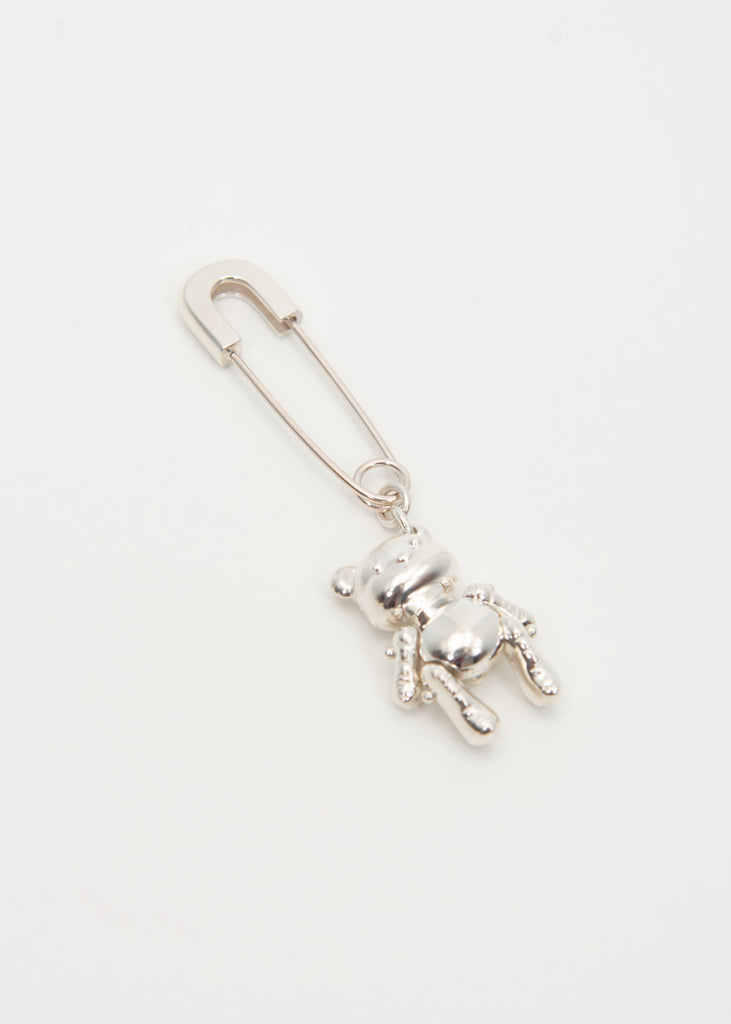 Silver Inflatable Teddy Bear Earring