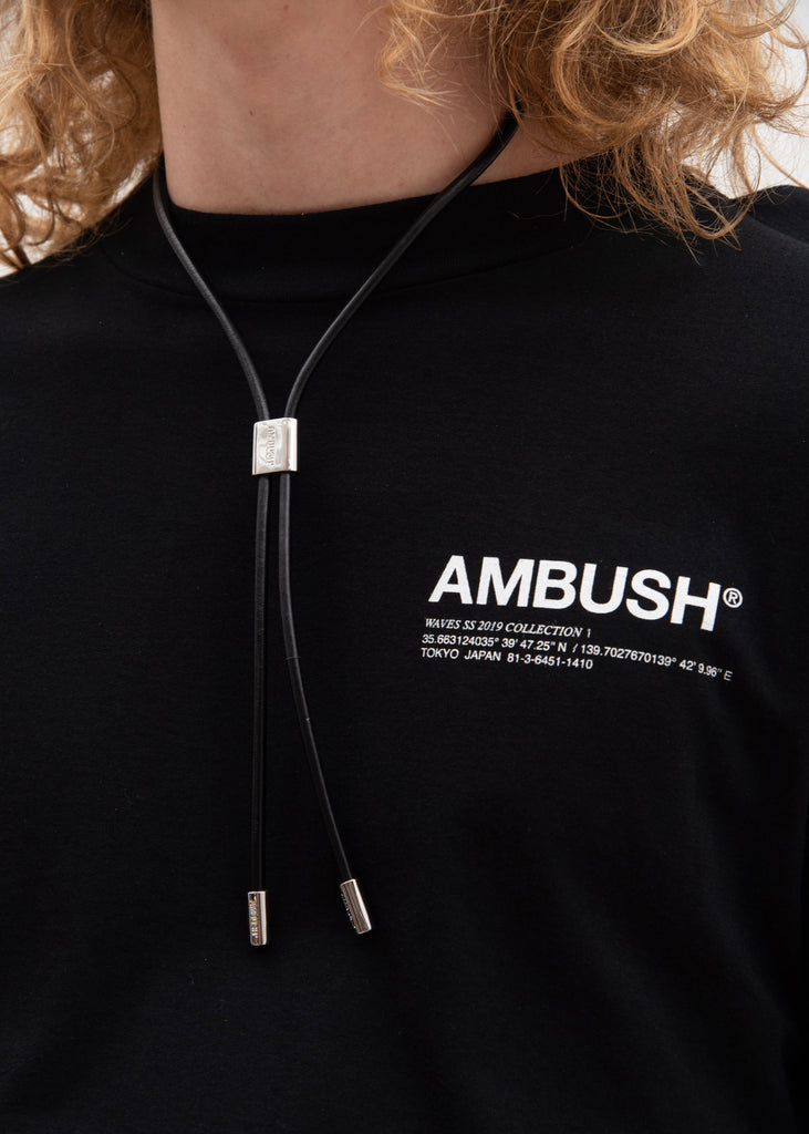 Ambush, Silver Leather Strap Necklaces (L), 017 Shop