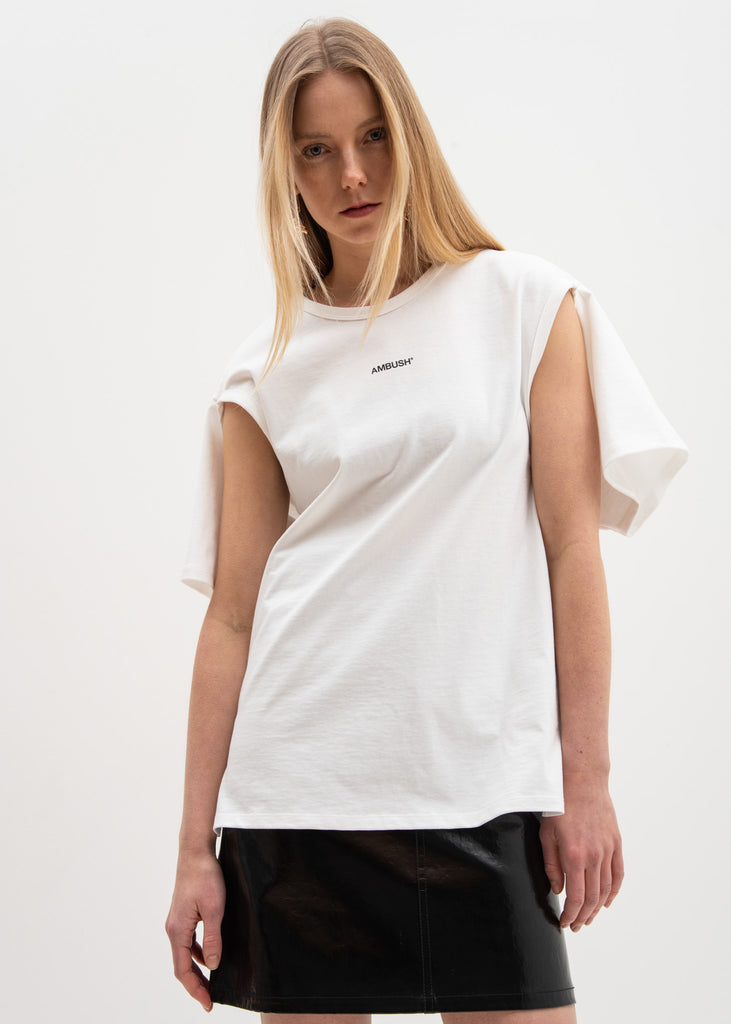 Ambush, White 2Way T-Shirt, 017 Shop