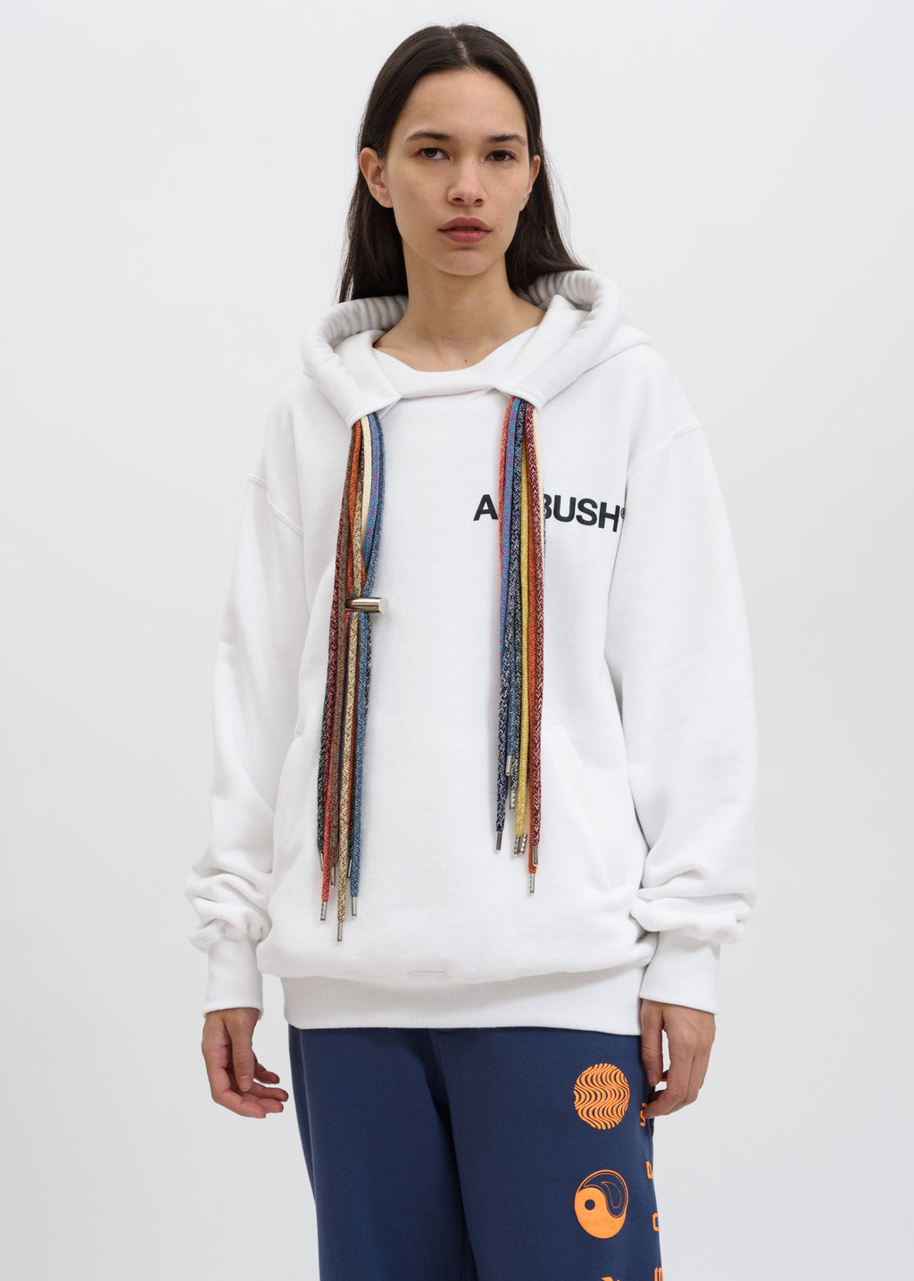 Ambush, White Multi Cord Hoodie, 017 Shop