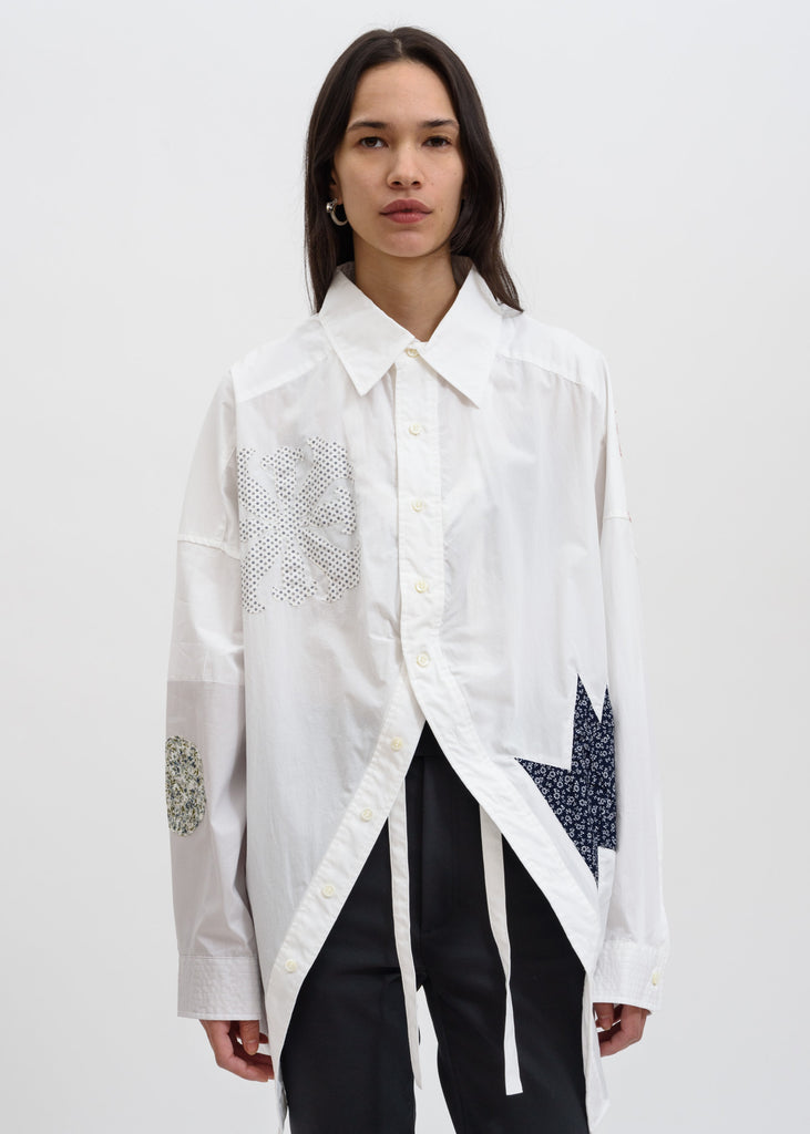 Ambush, White Off Shoulder Shirt, 017 Shop