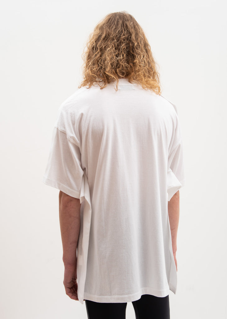 Ambush, White Oversized Fin T-Shirt, 017 Shop
