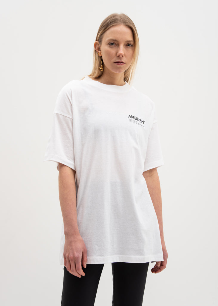 White Oversized Fin T-Shirt