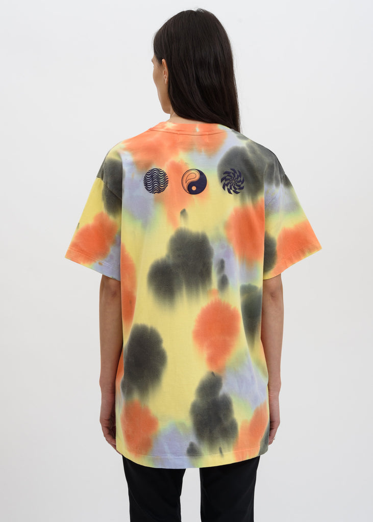 Yellow Waves Tie Dye T-Shirt