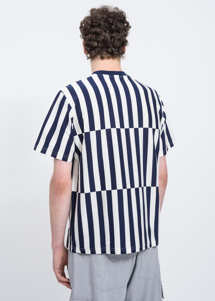 Blue Stripes Band T-Shirt