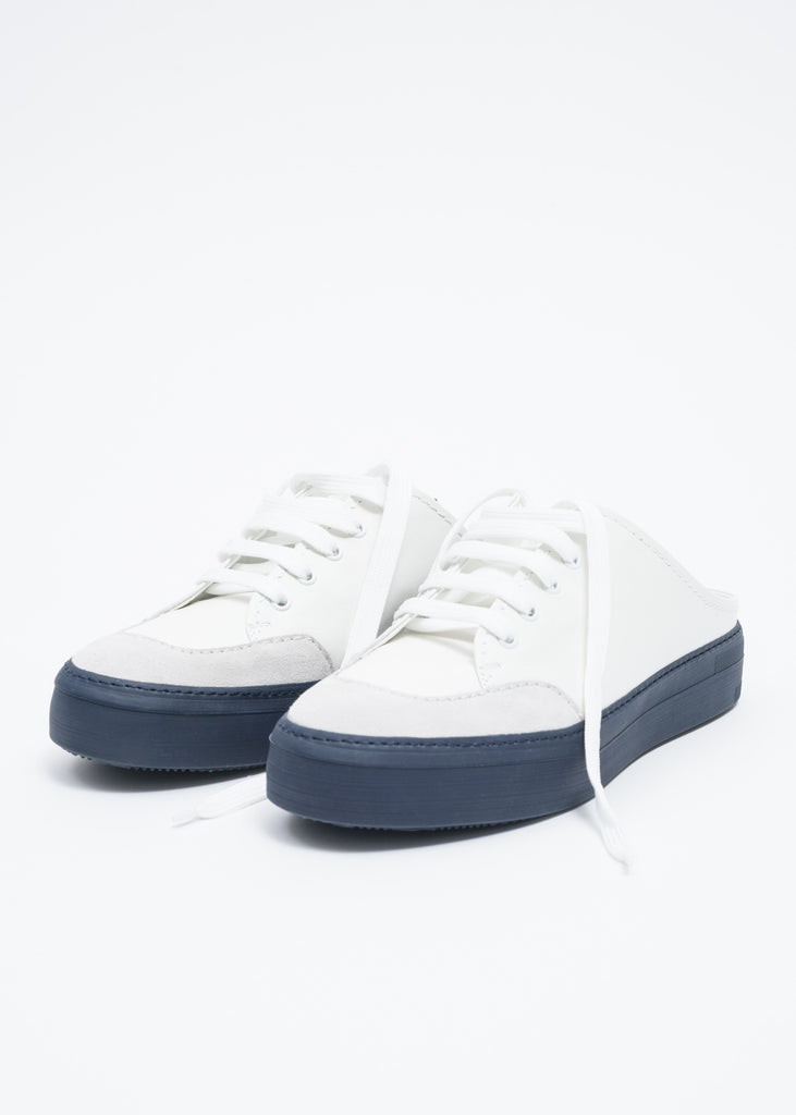 Blue and White Sabot Sneakers