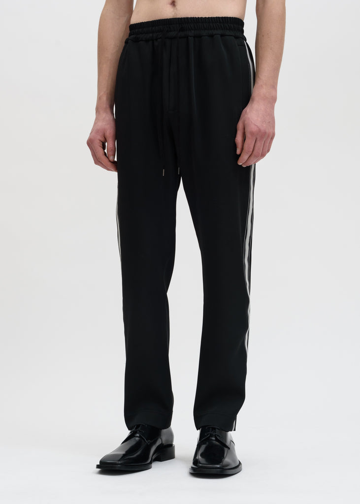 Cmmn Swdn, Black Buck Japanese Satin Track Pant, 017 Shop