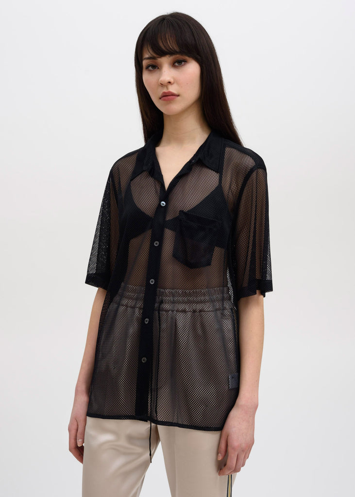 Black Niels Mesh Short Sleeve Shirt