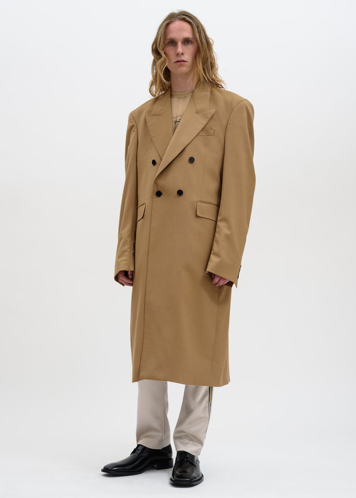 Cmmn Swdn, Camel Emil Double Breasted Coat, 017 Shop