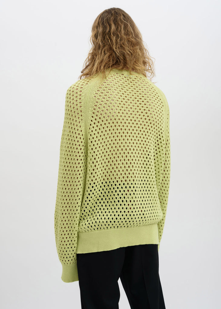 Lime Toby Crochet Sweatshirt