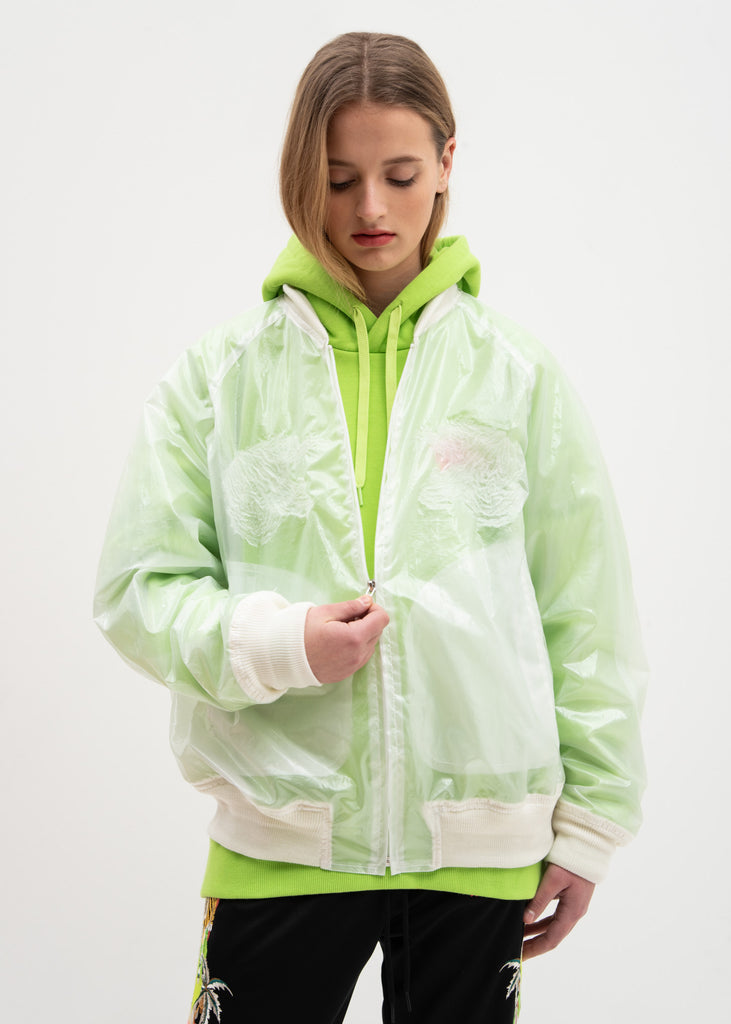 Clear Transparent Embroidery Souvenir Jacket