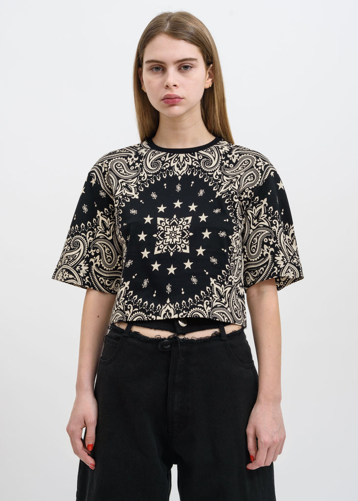Black Crescent Bandana Top