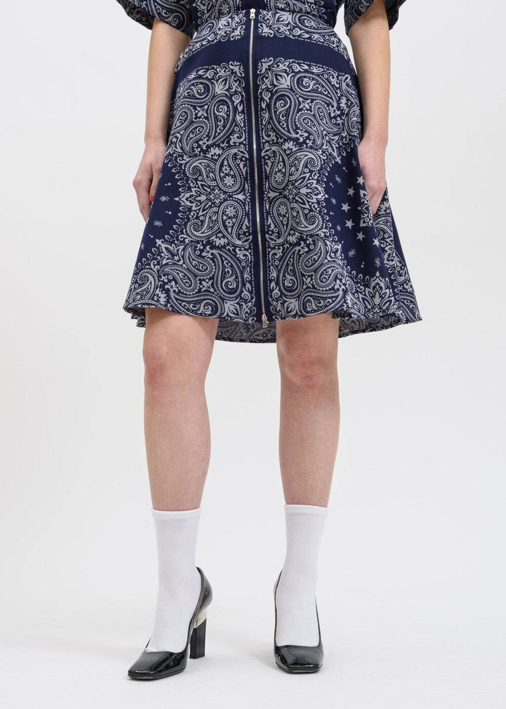 Blue Bandana Steps Skirt