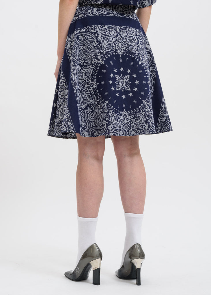 Etudes, Blue Bandana Steps Skirt, 017 Shop