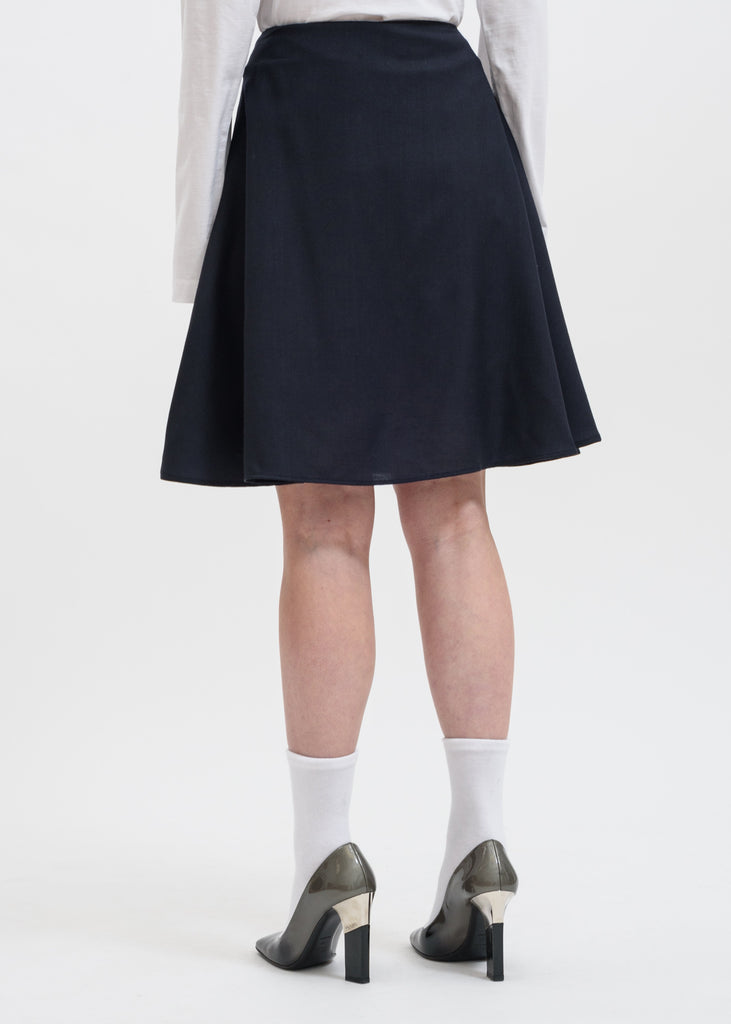 Navy Steps Skirt
