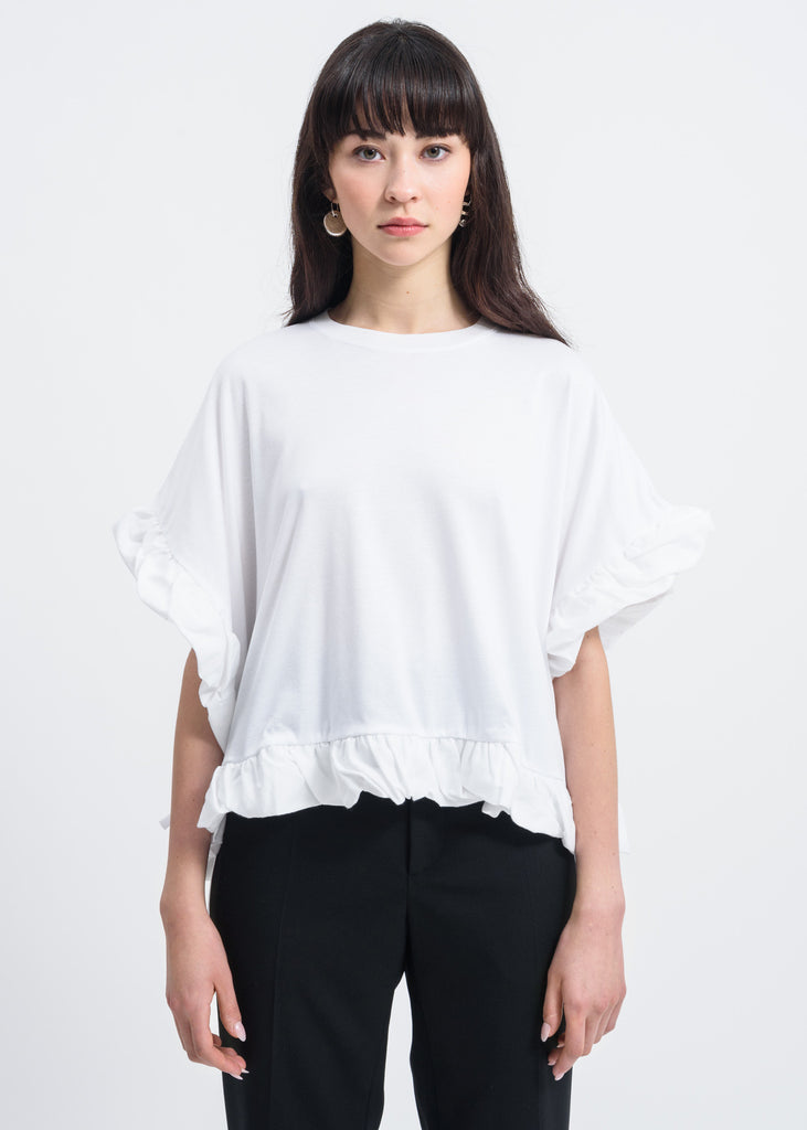 White Bow Detail T-Shirt