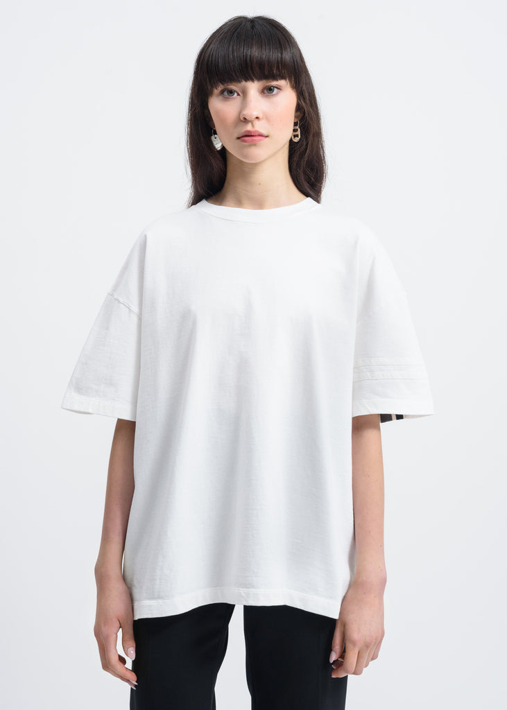 Facetasm, White Paneled T-Shirt, 017 Shop
