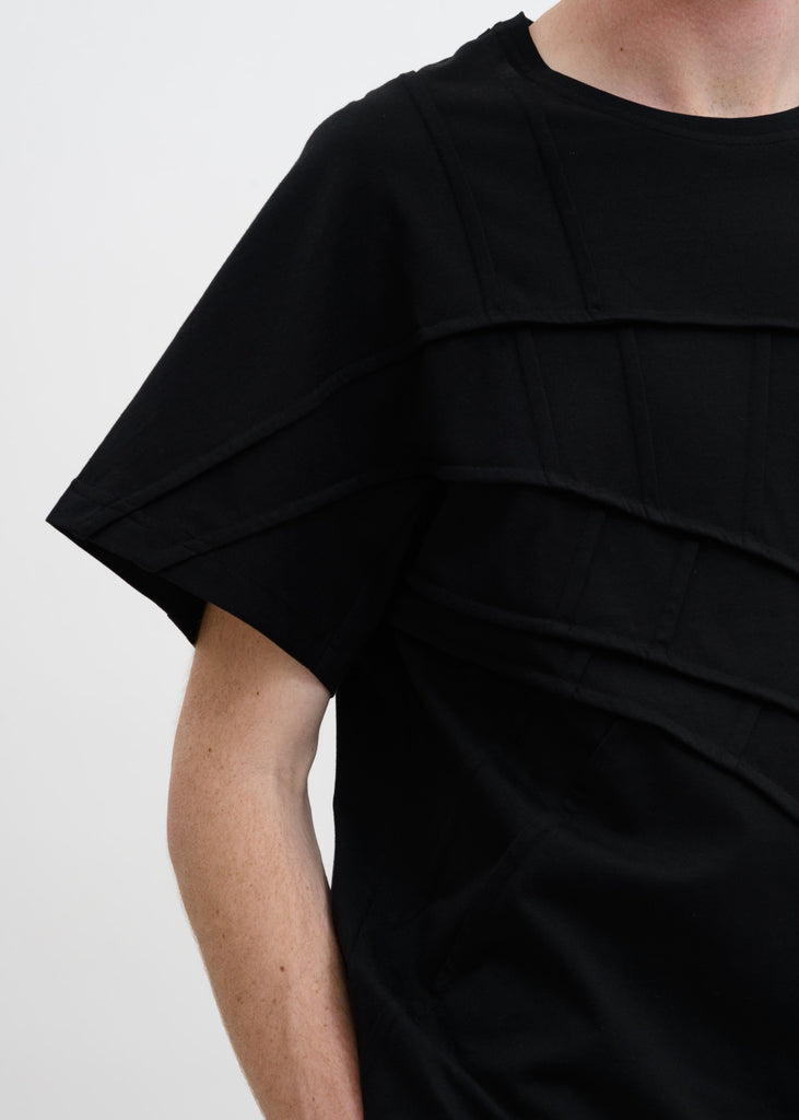 Black Panelled T-Shirt