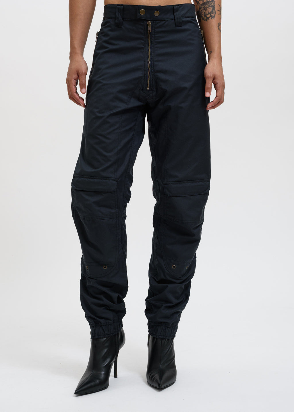 Navy Yolanda Biker Trousers