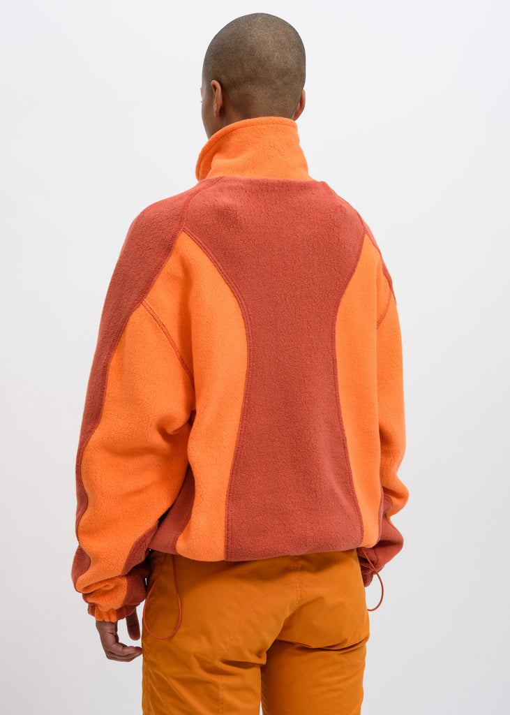 Orange Yaan Fleece Jacket
