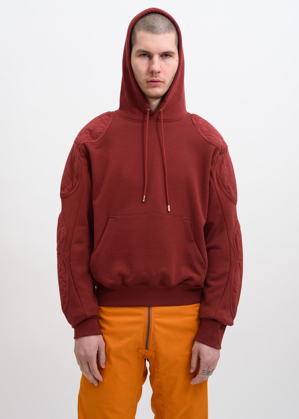 Red Renwhar Hoodie w/ Patches