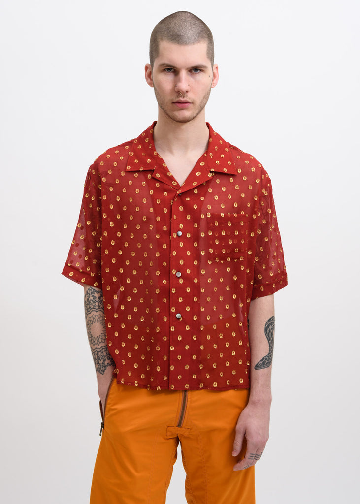 Red and Gold Luka Bowling Shirt