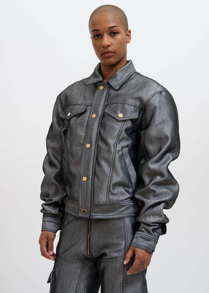 Silver Cem Raw Denim Jacket