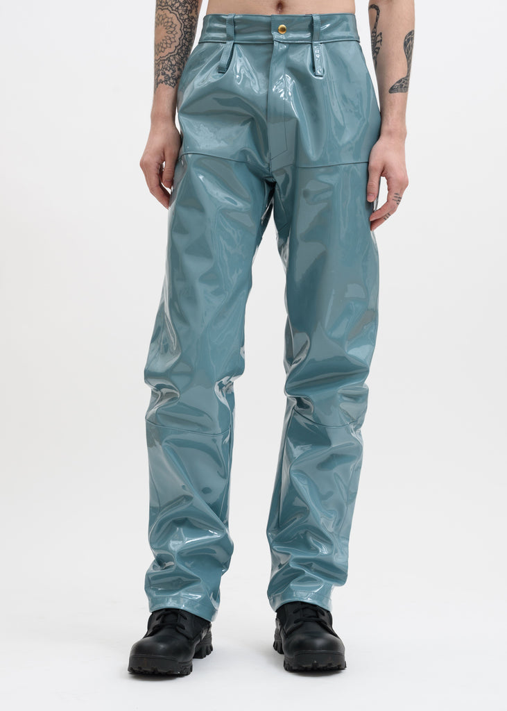 Turquoise Marie Vinyl Trousers