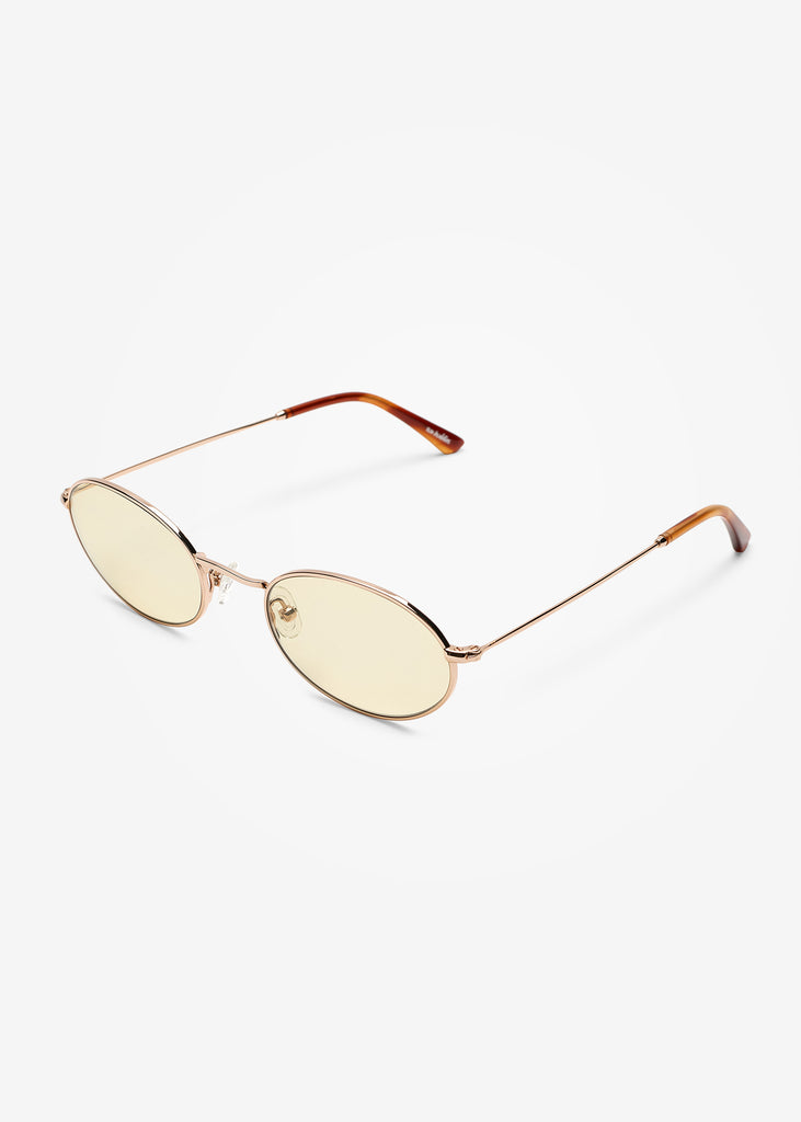 Gold and Brown Smoke Aaliyah Sunglasses
