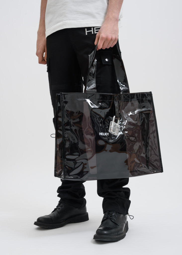Black Transparent Bag with Lock
