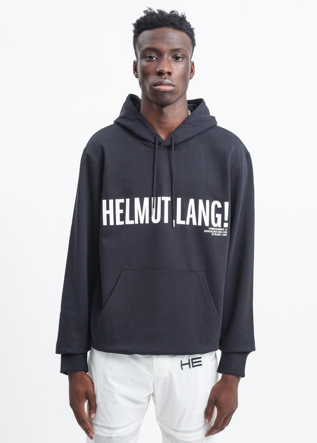 Helmut Lang, Black Exclamation Hoodie, 017 Shop