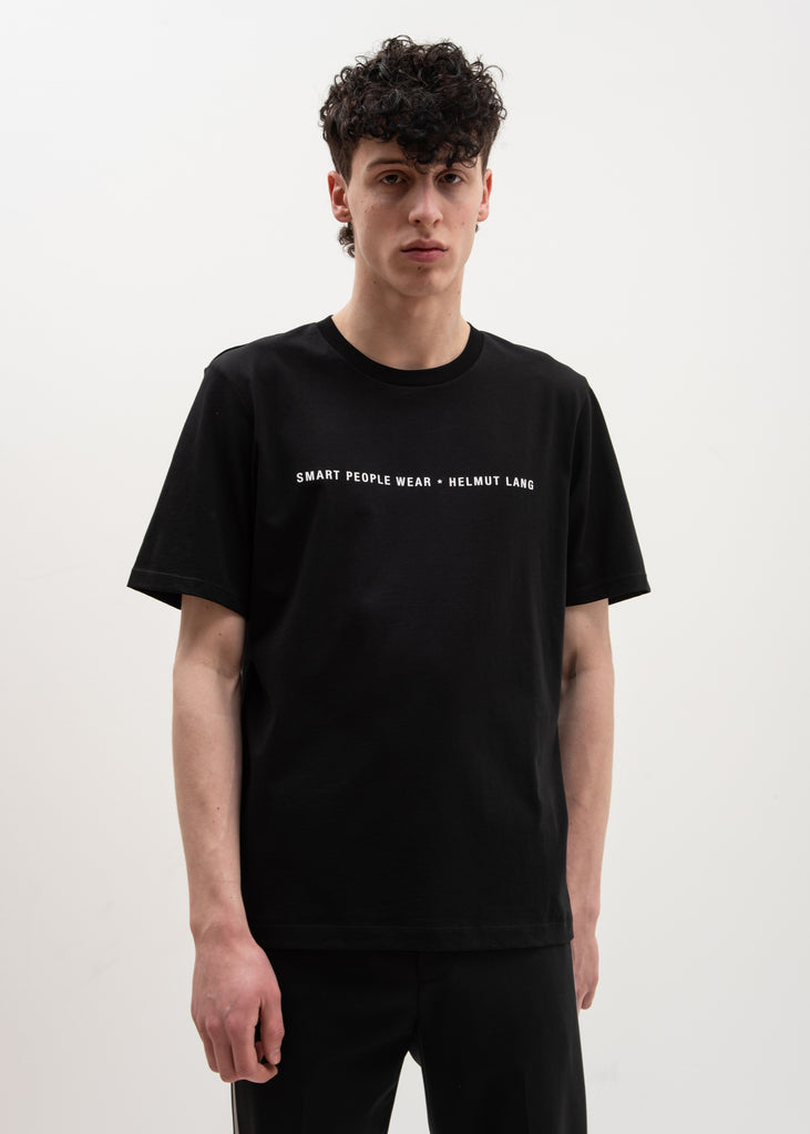 Helmut Lang, Smart People T-Shirt Black, 017 Shop