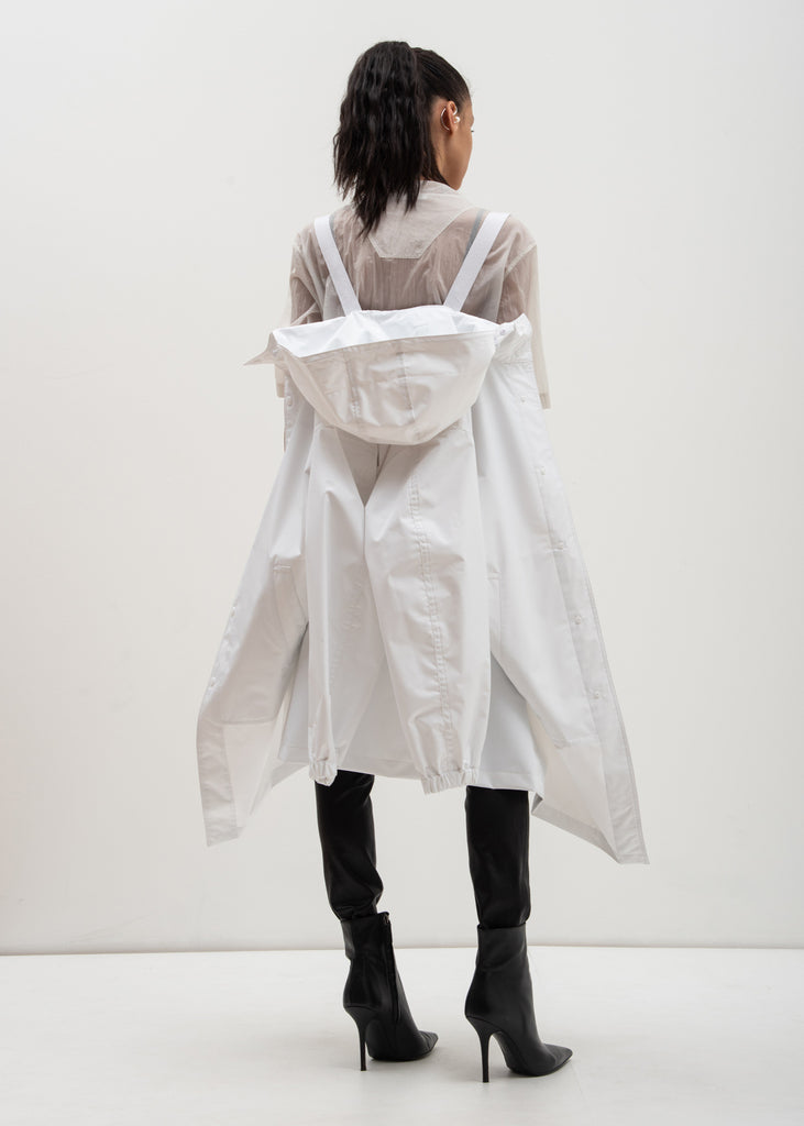 White Hooded Raincoat (Special Project)