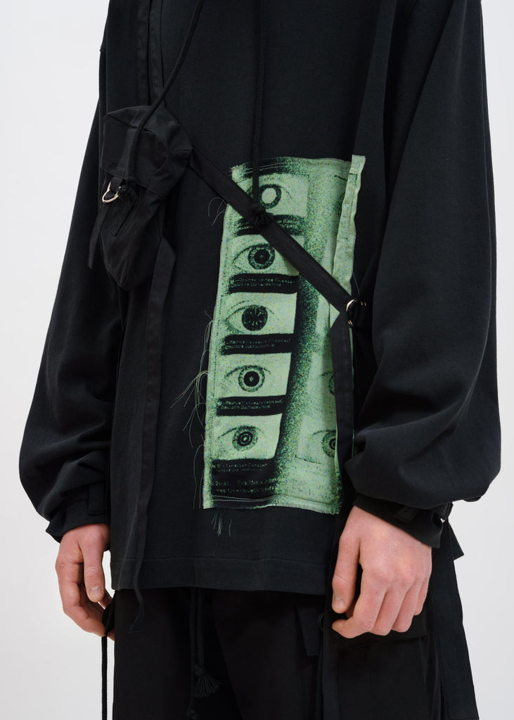 Black Night Vision Hoodie w/ Bag