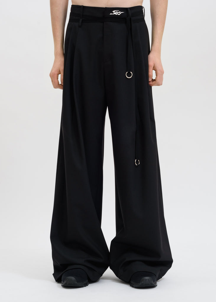 Hyein Seo, Black Wide Pants, 017 Shop