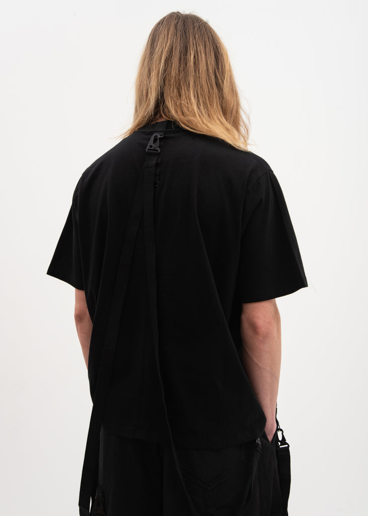 Black Boxy T-Shirt 3M Logo