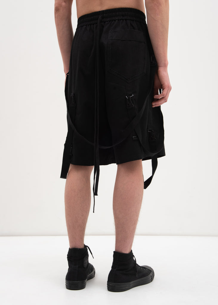 Komakino, Black Taped Shorts, 017 Shop