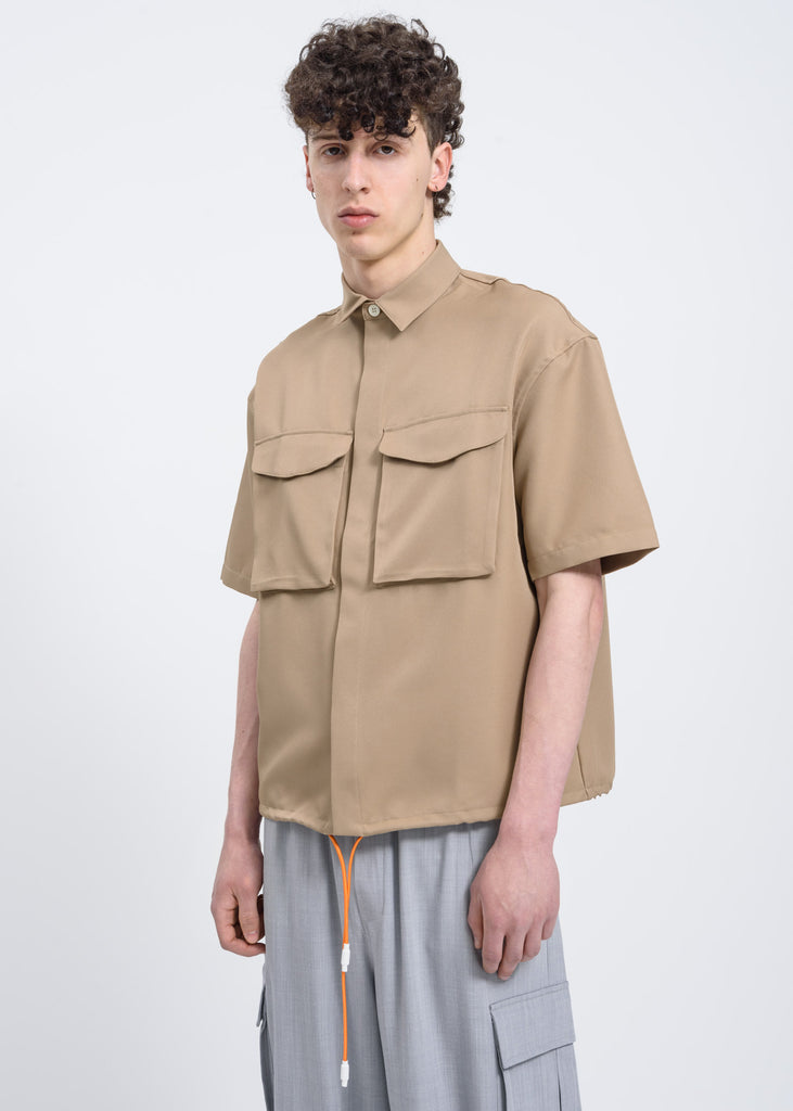 Light Brown Velcro Shirt