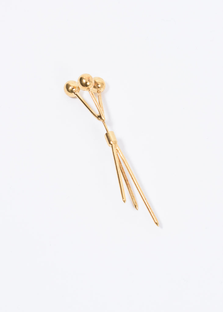 Gold 3 Pin Earring