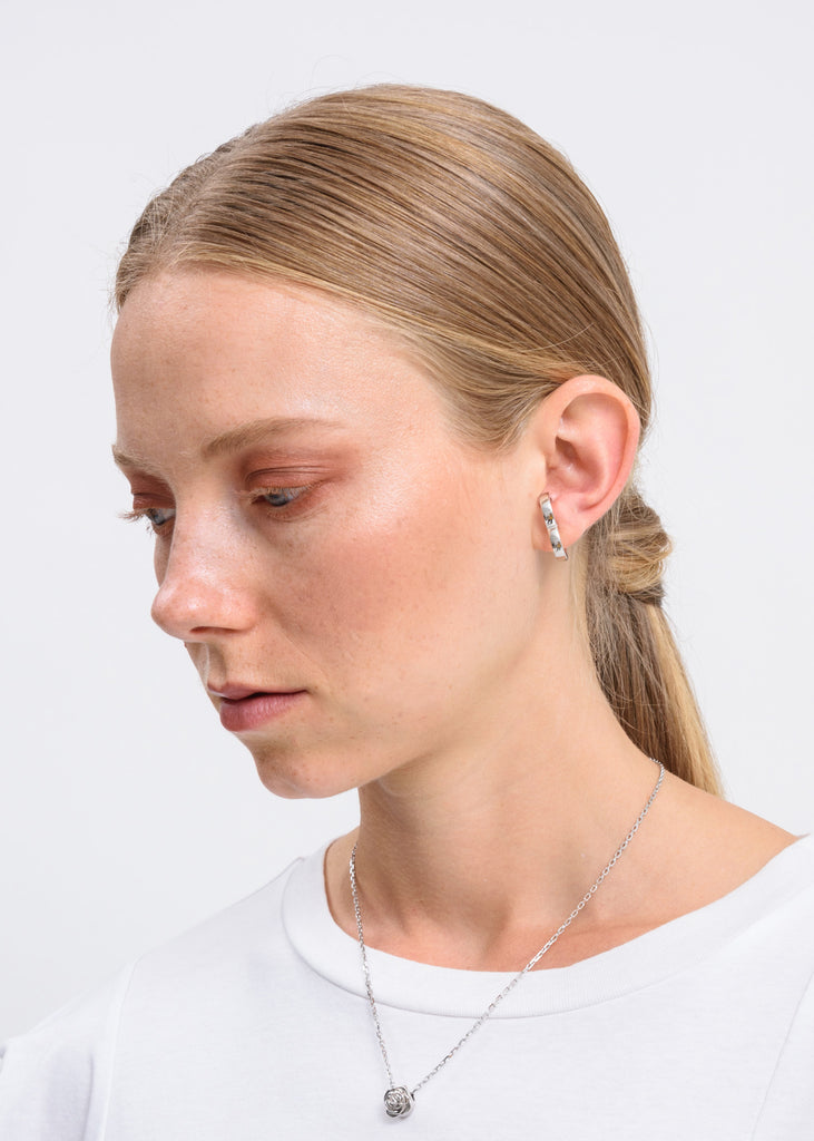 Silver Rodeo Earring