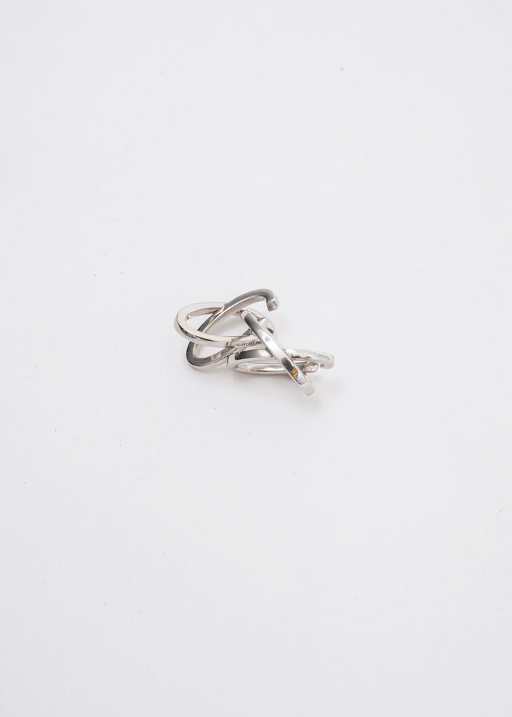 Silver Mini Space Ear Cuff