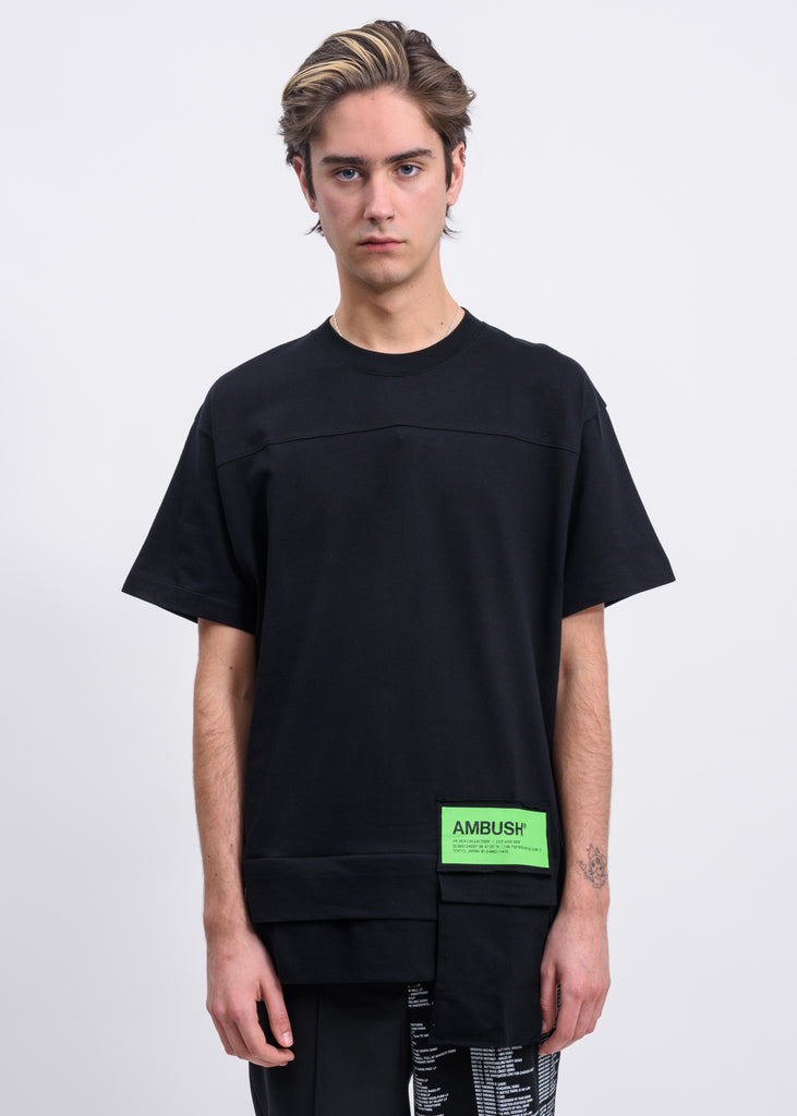 Black Waist Pocket T-Shirt