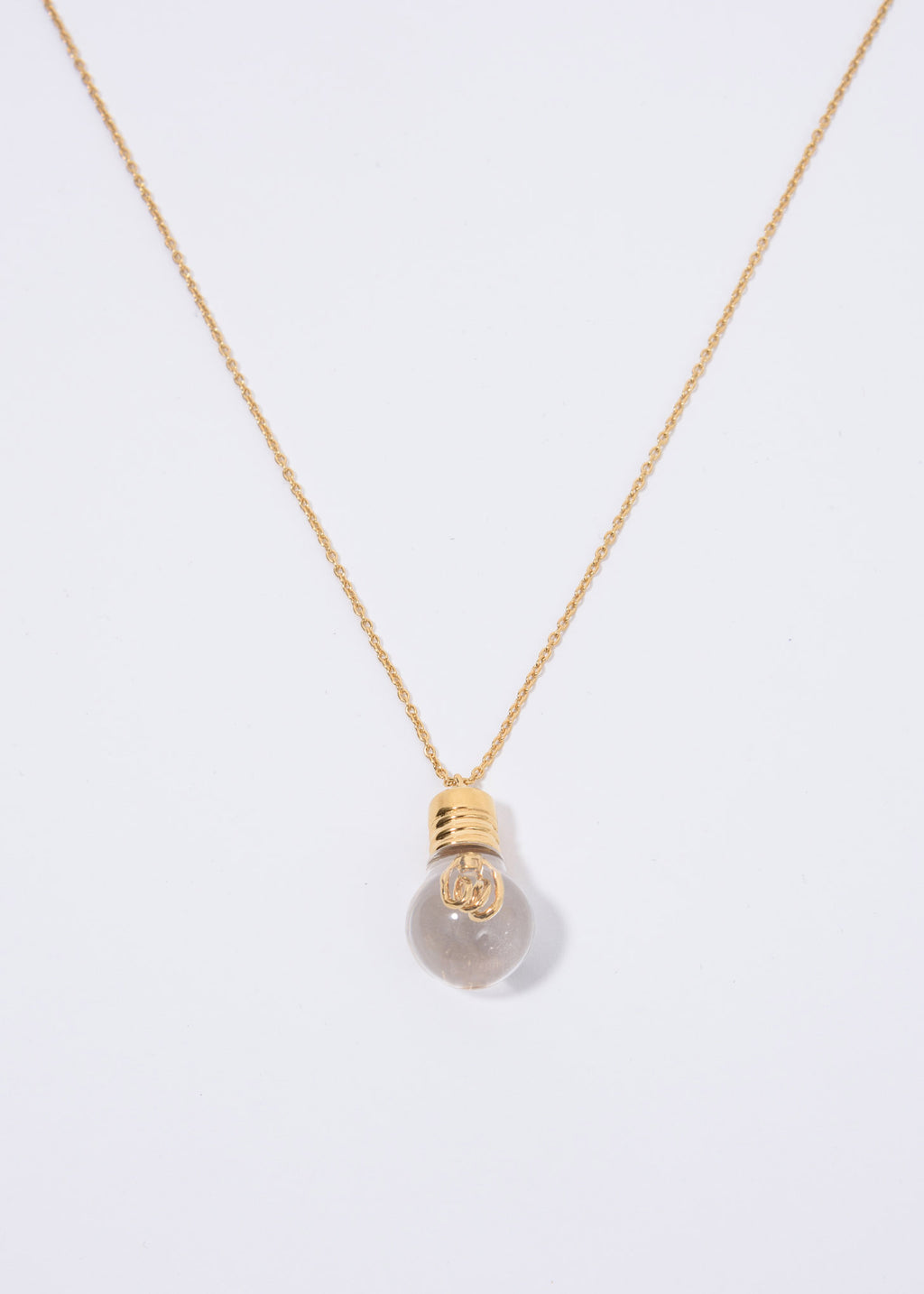 Gold Lightbulb Charm Necklace